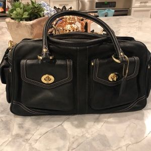 Coach black leather Soho satchel bag